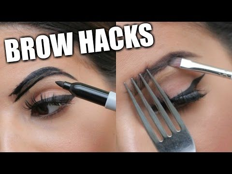 EYEBROW HACKS That Everyone Should Know! - YouTube