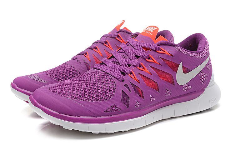Nike Free 5.0 2014 Womens Bright Grape White Volt Shade Legion Red 642199 501 #cheap #nike #frees