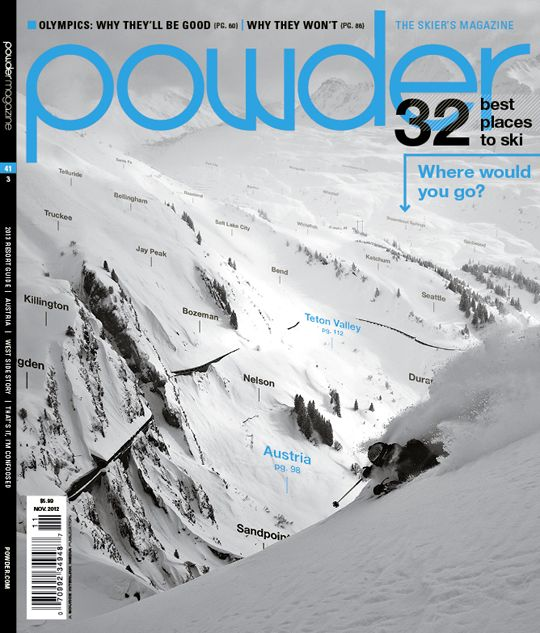 Powder Magazine 2013 Resort Guide #telluride #colorado #ski #skiing #rankings #resort