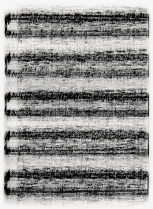 Rachmaninoff…Preludes (2007)    Every page of each score superimposed resulting in chaotic single images.
