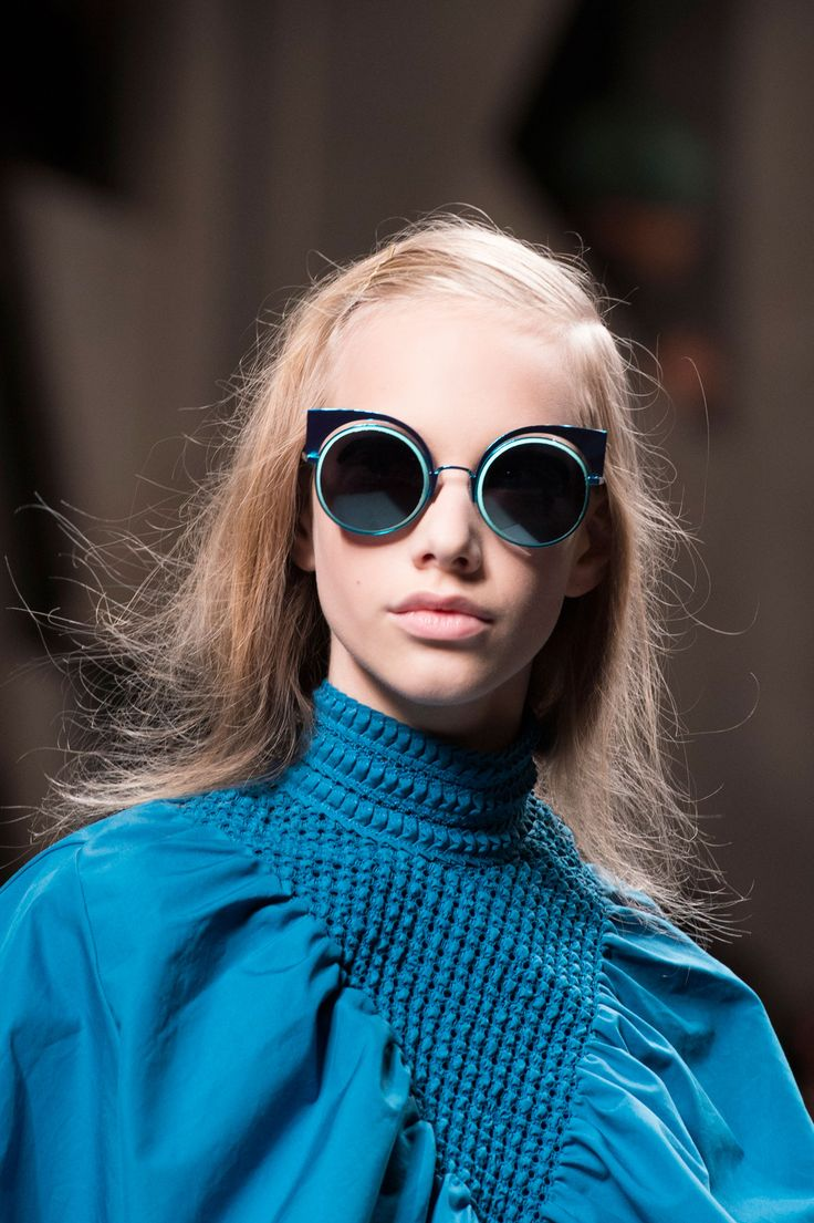So blue for Fendi and their pastel take on the Cat-Eye frames from the Spring Summer 2016 Runways.