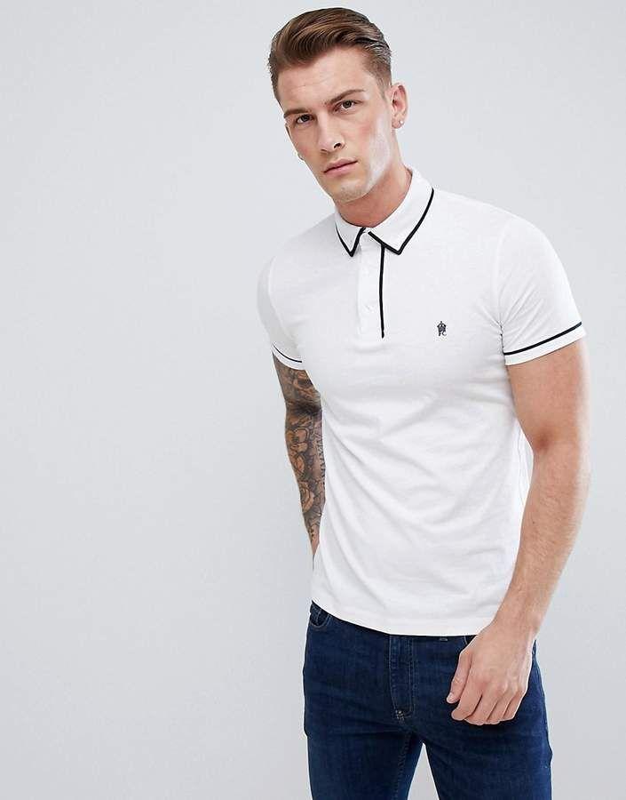 fb90e3ed Piping Polo Shirt #Regular#cut#piping   Men Fashion in 2019   Polo ...