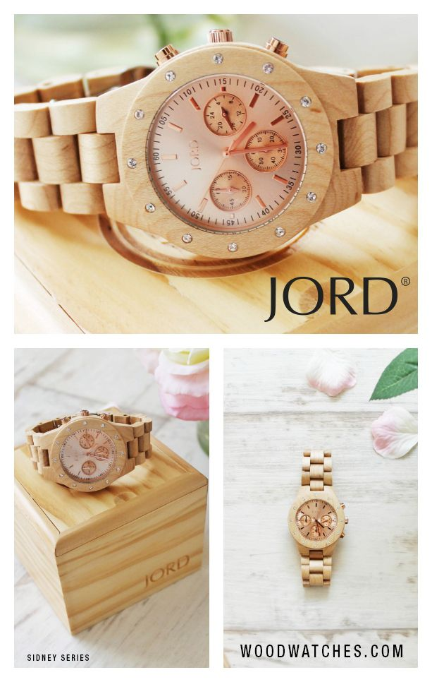 JORD's Sidney series is offered in a gorgeous maple with a rose gold face that's sure to be noticed! JORD offers dozens of unique styles, all with free shipping world wide. The wood is never stained or painted, just hand conditioned with natural oil. A perfect gift for those who appreciate the beauty of nature.