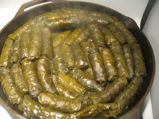Dolmades - Stuffed Grape Leaves Recipe | Want to try ...