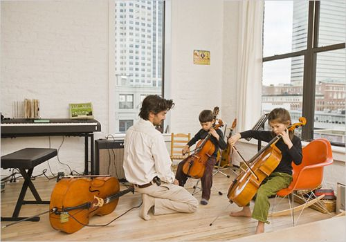 Children and cellos