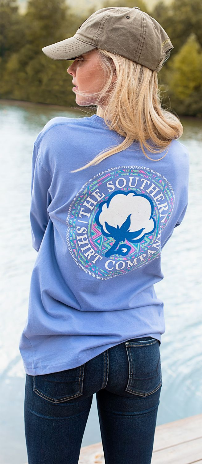 Trendy new vibes from the SSCO tribe: NEW Aztec Logo LS Tee #southernshirt