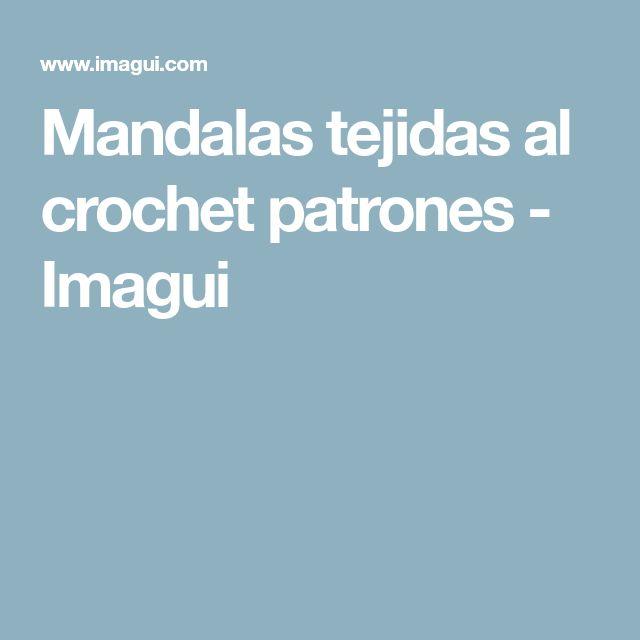 Mandalas tejidas al crochet patrones - Imagui