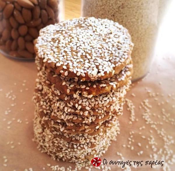 Μπισκότα με ταχίνι, σουσάμι και μέλι #sintagespareas