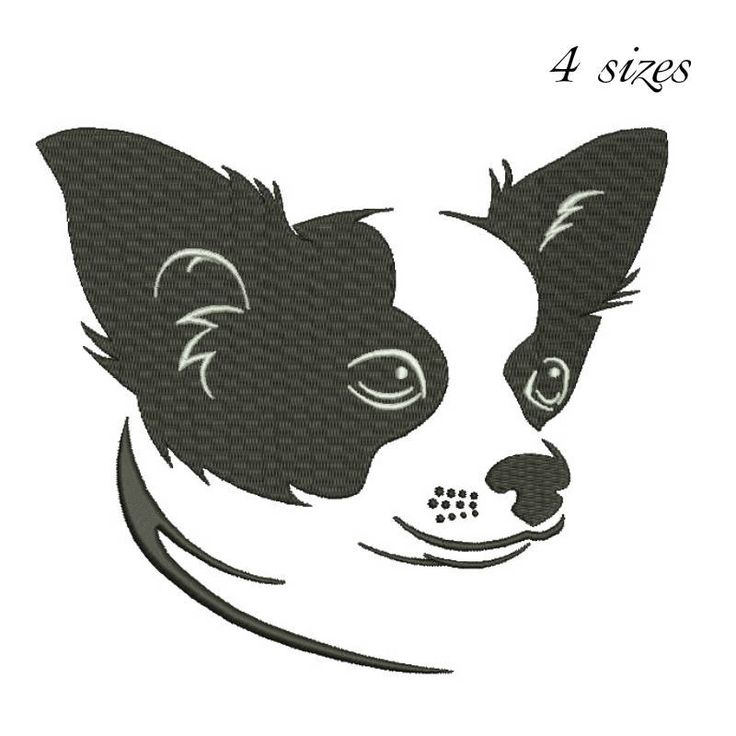 Chihuahua embroidery design dog pattern puppy designs in the hoop pes files towel machine instant digital download by SvgEmbroideryDesign on Etsy