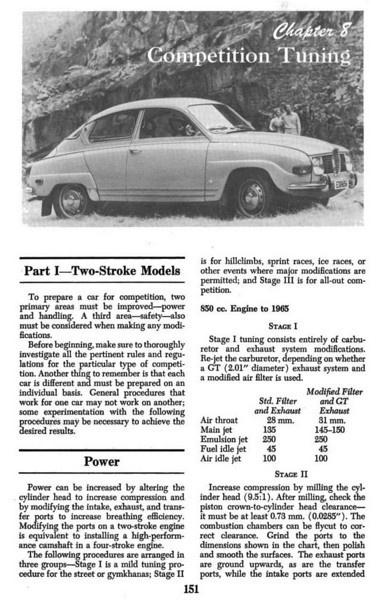 SAAB Two-Stroke Chilton Manual - Competition Tuning