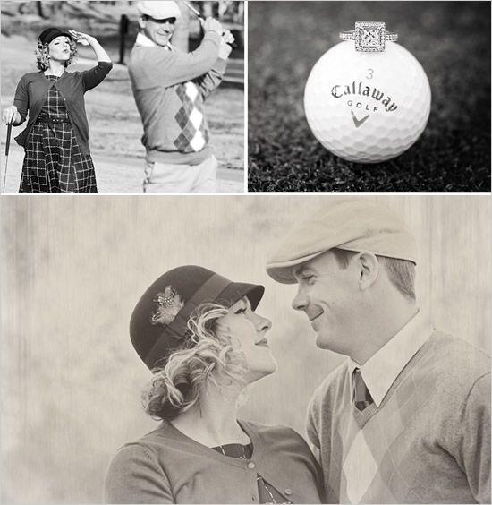 Vintage golf engagements.