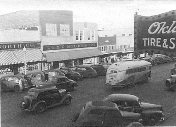 Downtown Cushing, Oklahoma during the 40's