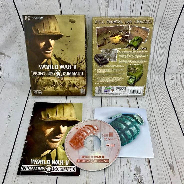 World War II Frontline Command PC CD-Rom Game Limited Edition Big box Version