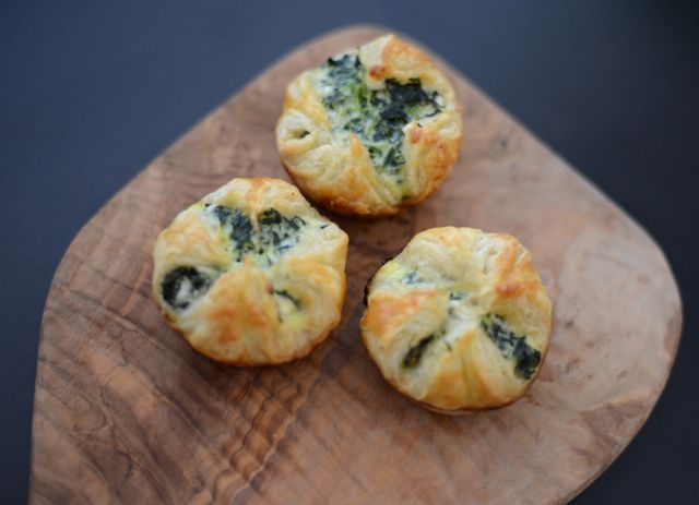 Snack: Spinazie-Feta hapjes