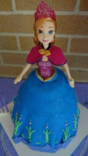 Princess Anna - frozen theme - doll cake