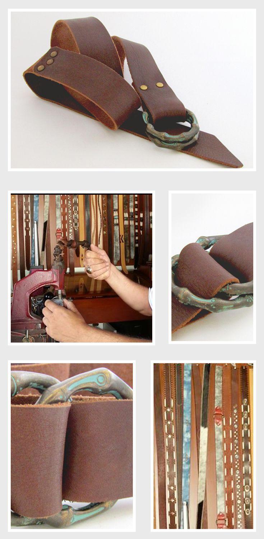 The prettiest handmade leather belt!