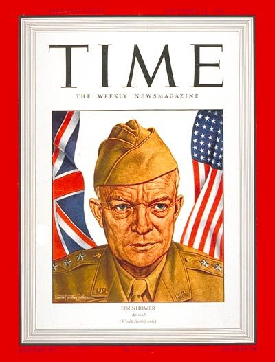 TIME Magazine Cover: Lt. General Dwight Eisenhower - Nov. 16, 1942 - Dwight Eisenhower - World War II - Generals - Military