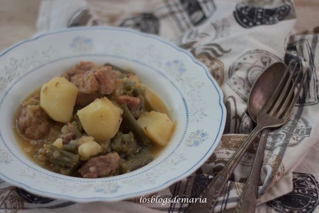 Patatas con ternera y judías verdes en Cookeo