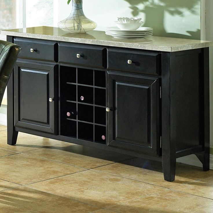Monarch Marble Top Wine Rack Server The Offers A Stylish Look With Functional Storage Including 3 Drawers 2 Doors