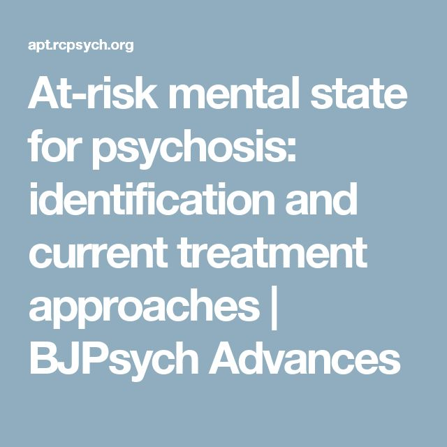 At-risk mental state for psychosis: identification and current treatment approaches | BJPsych Advances