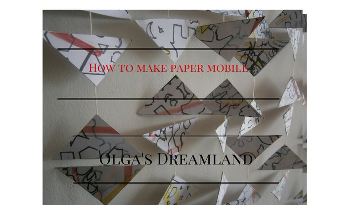 How to make paper mobile - Diy project