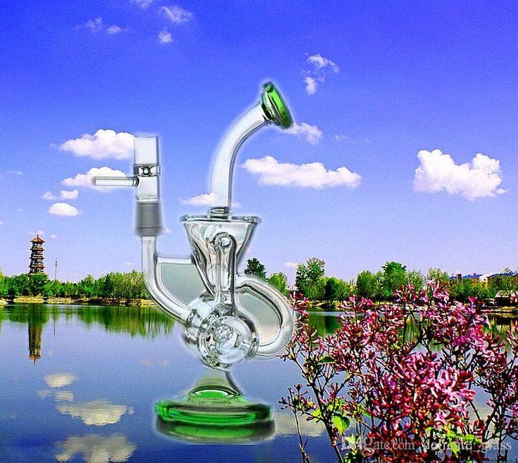 Real Images Bongs Water Pipes With Joint Size 14.4 Mm 21cm Tall Double Recycler Disk Recycle Oil Origs Glass Bongs Cheap Water Pipes Online with $26.04/Piece on Delicate_glass's Store | DHgate.com