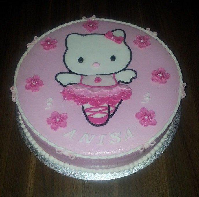 Birthdaycake, Hello Kitty, pink, girl, Verjaardagstaart, meisje