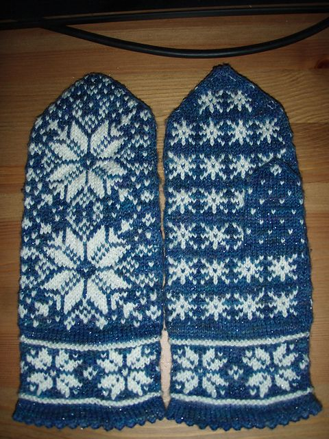 ... knit & crochet | Pinterest | Mittens, Mittens Pattern and Snowflakes