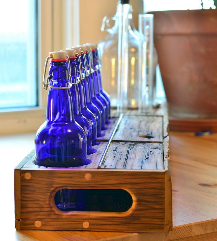 legno vintage portabottiglie