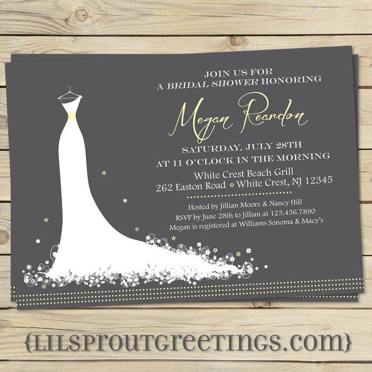 Elegant Modern Bridal shower invitation