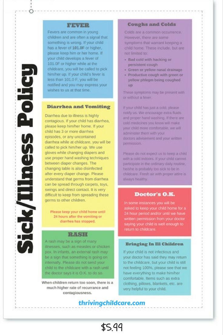 child care staff handbook template