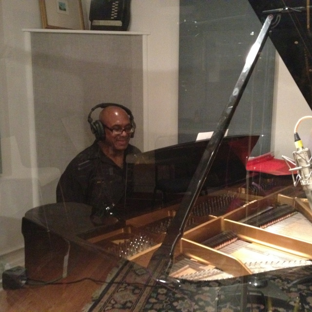 Pianist Richard Clements in the studio.