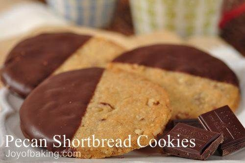 pecan shortbread i love pecans and shortbreads and then you dip it in ...