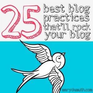 25 Best Blog Practices that'll Rock Your Blog