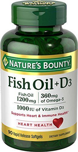 Nature's Bounty Fish Oil 1200 mg + Vitamin D3 1000 IU, 90 Softgels (Packaging May Vary) //Price: $11.55 & FREE Shipping //     #hashtag4