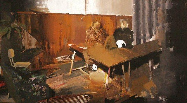 Adrian Ghenie - The Trial, 2010  (Sursa pnicodimgallery.com)