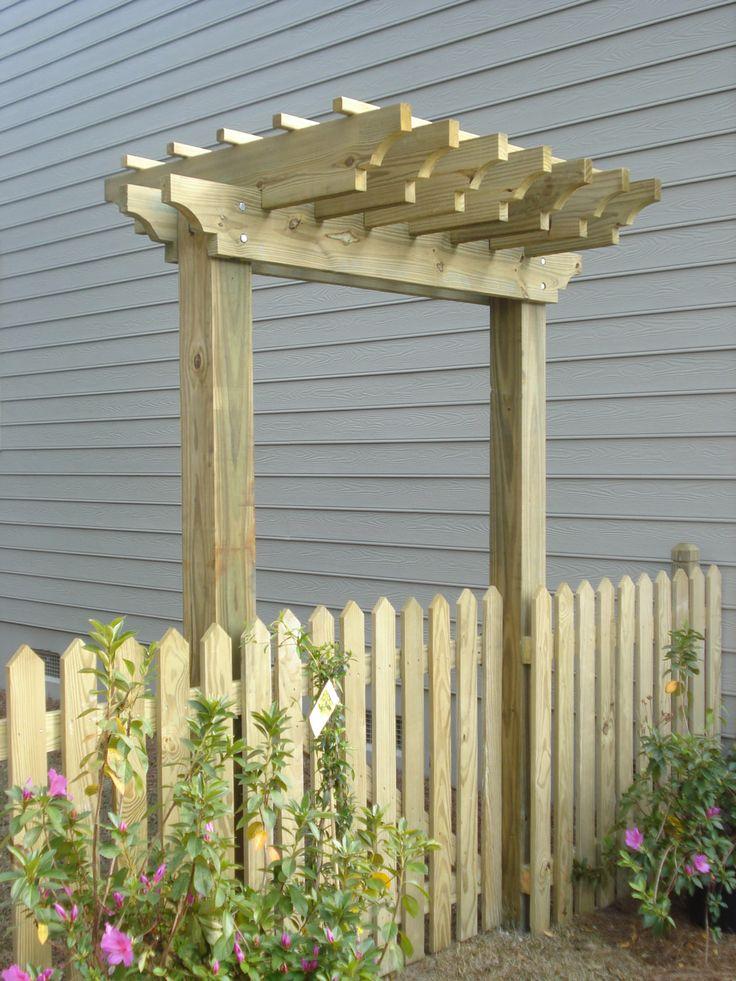 Best 25 arbor gate ideas on pinterest garden arbor with for Garden gate arbors designs