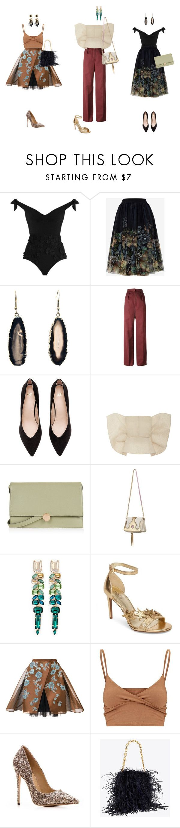"""New Years Eve Outfits 1"" by palina-parker ❤ liked on Polyvore featuring Zimmermann, Ted Baker, Vilshenko, Delpozo, Topshop, The Volon, Jardin, MICHAEL Michael Kors and Gucci"
