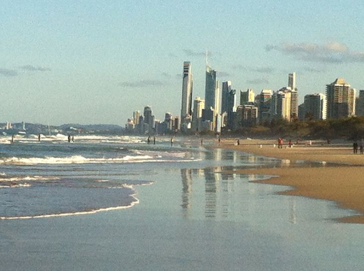 Surfer Paradise in the water mirror.