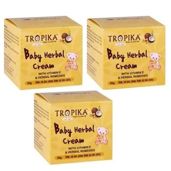 Buy Tropika Baby Herbal Cream 50G - 3 pack online at Lazada Malaysia. Discount prices and promotional sale on all Special Promotion. Free Shipping.