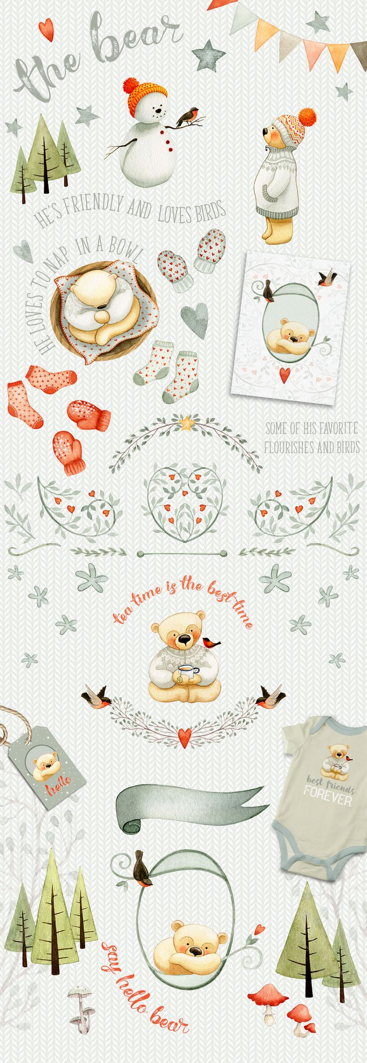 Introductory 20% OFF - Autumn Charm by Watercolor Nomads on @creativemarket