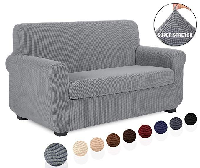 Tianshu 2 Piece Sofa Slipcover Stretch Couch Cover For Sofa