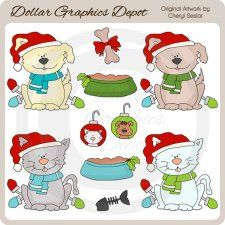 A Pet For Christmas – Clip Art – Diciembre