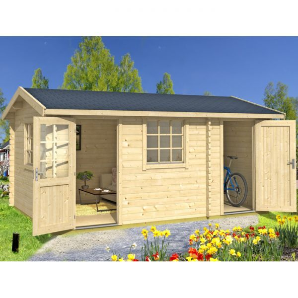 greenway 45m x 3m swinley log cabin httpwwwsheds