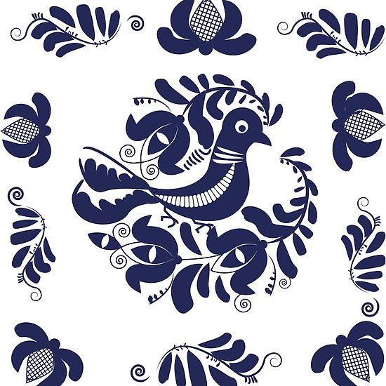 Folk plate motif from Korond
