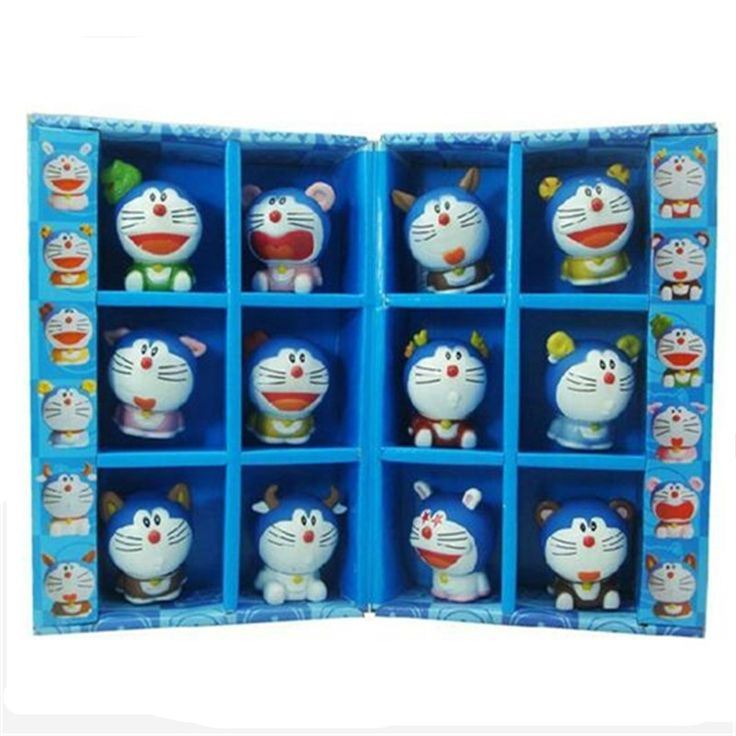 24.33$  Watch now - http://alir9i.shopchina.info/go.php?t=32621170237 - 12pcs/set Creative12 Chinese zodiac Doraemon Decoration Japan one piece anime figures Doraemon Comics Garage Kits toy doll 24.33$ #shopstyle