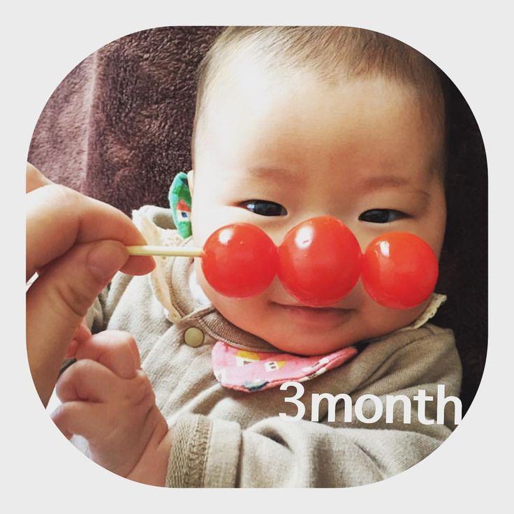 リコパンマン(^^) . #3ヶ月 #黄昏泣きはじめました #ただただ泣く #ベビタブル