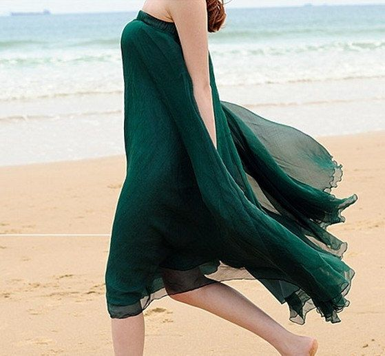 Hey, I found this really awesome Etsy listing at http://www.etsy.com/listing/161073820/jade-green-chiffon-skirt-maxi-skirt-long