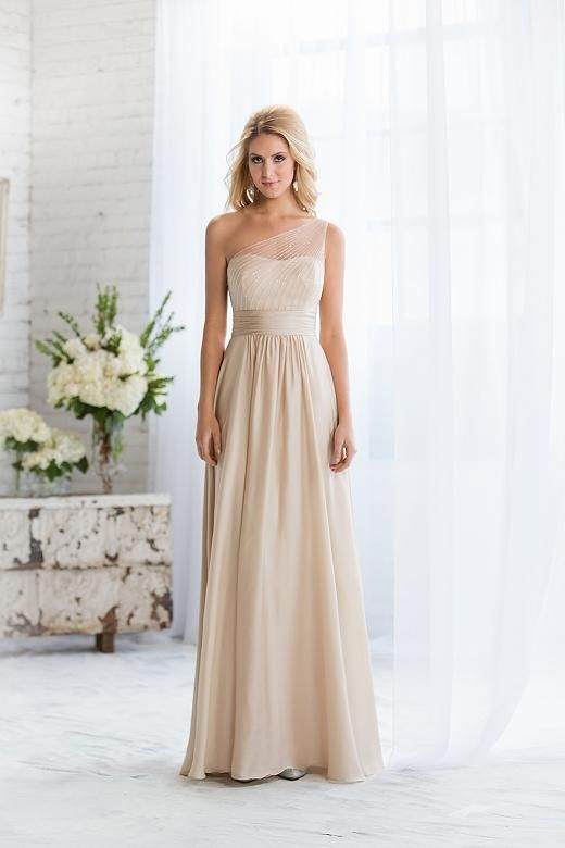 Navy Bridesmaids Dresses 2015 New Elegant Maid Of Honor Dresses Champagne Chiffon With Clear Beadings Cheap Modest Bridesmaid Dresses Pastel Pink Bridesmaid Dresses From Idobridaldress, $80.63| Dhgate.Com