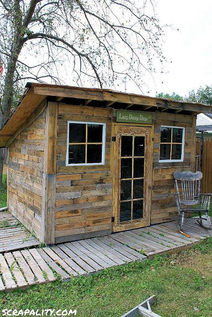 Scrapality: Project: Pallet Shed- Finishing touches!